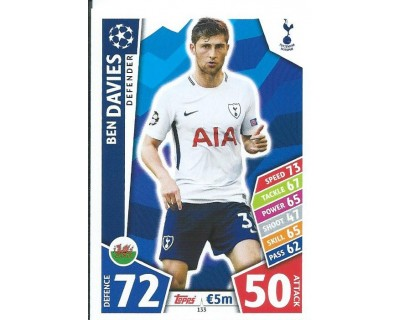 MATCH ATTAX CHAMPIONS LEAGUE 17/18 TOTTENHAM HOTSPUR Nº 133