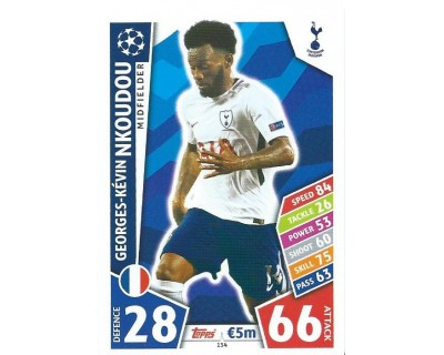 MATCH ATTAX CHAMPIONS LEAGUE 17/18 TOTTENHAM HOTSPUR Nº 134