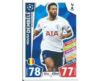 MATCH ATTAX CHAMPIONS LEAGUE 17/18 TOTTENHAM HOTSPUR Nº 138