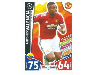 MATCH ATTAX CHAMPIONS LEAGUE 17/18 MANCHESTER UNITED Nº 147