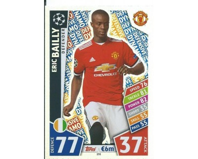 MATCH ATTAX CHAMPIONS LEAGUE 17/18 MANCHESTER UNITED Nº 151
