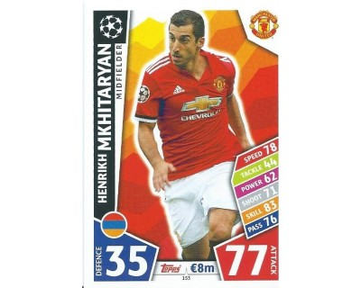 MATCH ATTAX CHAMPIONS LEAGUE 17/18 MANCHESTER UNITED Nº 153