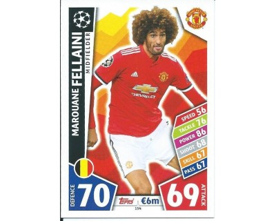MATCH ATTAX CHAMPIONS LEAGUE 17/18 MANCHESTER UNITED Nº 154