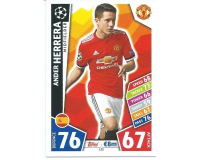 MATCH ATTAX CHAMPIONS LEAGUE 17/18 MANCHESTER UNITED Nº 155