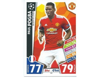 MATCH ATTAX CHAMPIONS LEAGUE 17/18 MANCHESTER UNITED Nº 156