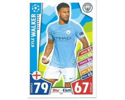 MATCH ATTAX CHAMPIONS LEAGUE 17/18 MANCHESTER CITY FC Nº 165