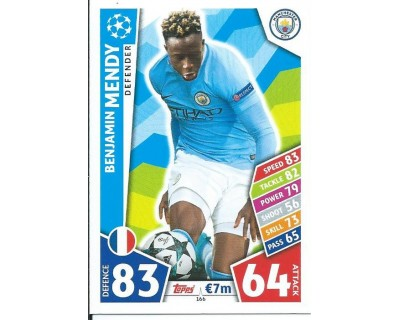 MATCH ATTAX CHAMPIONS LEAGUE 17/18 MANCHESTER CITY FC Nº 166