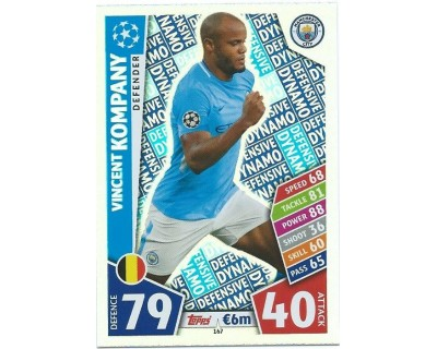 MATCH ATTAX CHAMPIONS LEAGUE 17/18 MANCHESTER CITY FC Nº 167