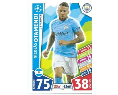 MATCH ATTAX CHAMPIONS LEAGUE 17/18 MANCHESTER CITY FC Nº 168