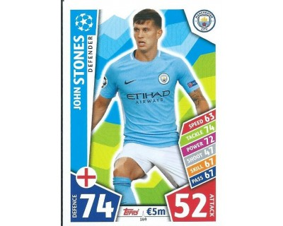 MATCH ATTAX CHAMPIONS LEAGUE 17/18 MANCHESTER CITY FC Nº 169