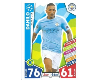 MATCH ATTAX CHAMPIONS LEAGUE 17/18 MANCHESTER CITY FC Nº 170