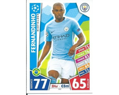 MATCH ATTAX CHAMPIONS LEAGUE 17/18 MANCHESTER CITY FC Nº 172