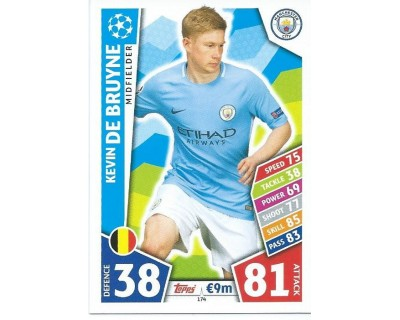 MATCH ATTAX CHAMPIONS LEAGUE 17/18 MANCHESTER CITY FC Nº 174
