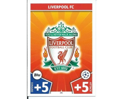 MATCH ATTAX CHAMPIONS LEAGUE 17/18 LIVERPOOL FC Nº 181