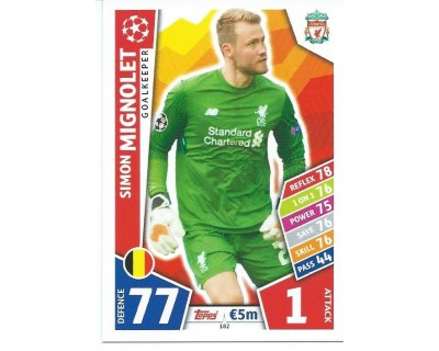 MATCH ATTAX CHAMPIONS LEAGUE 17/18 LIVERPOOL FC Nº 182