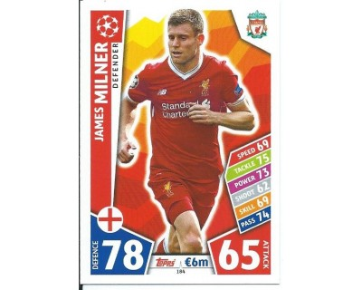 MATCH ATTAX CHAMPIONS LEAGUE 17/18 LIVERPOOL FC Nº 184