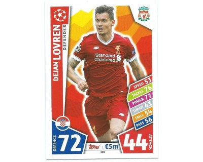 MATCH ATTAX CHAMPIONS LEAGUE 17/18 LIVERPOOL FC Nº 185