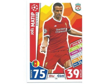 MATCH ATTAX CHAMPIONS LEAGUE 17/18 LIVERPOOL FC Nº 186