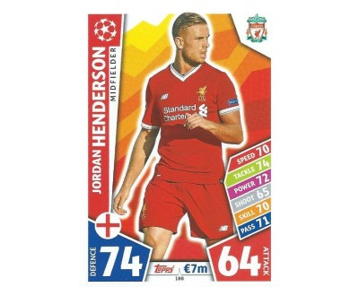 MATCH ATTAX CHAMPIONS LEAGUE 17/18 LIVERPOOL FC Nº 188