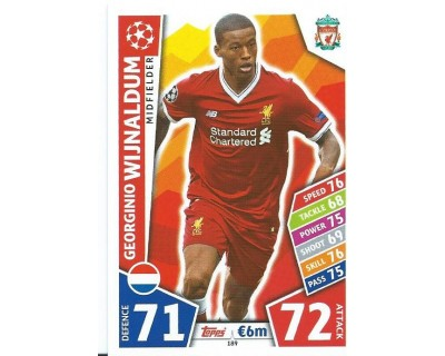 MATCH ATTAX CHAMPIONS LEAGUE 17/18 LIVERPOOL FC Nº 189