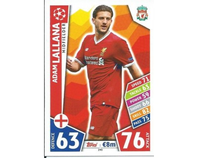 MATCH ATTAX CHAMPIONS LEAGUE 17/18 LIVERPOOL FC Nº 190