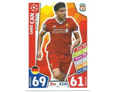 MATCH ATTAX CHAMPIONS LEAGUE 17/18 LIVERPOOL FC Nº 191