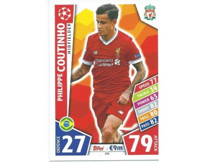 MATCH ATTAX CHAMPIONS LEAGUE 17/18 LIVERPOOL FC Nº 192