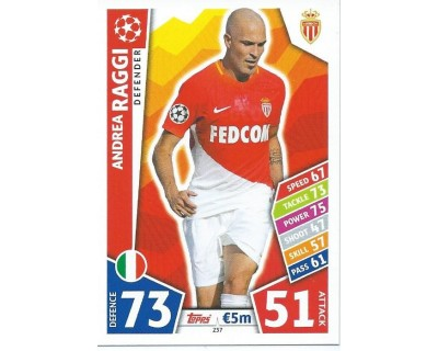 MATCH ATTAX CHAMPIONS LEAGUE 17/18 AS MONACO FC Nº 237