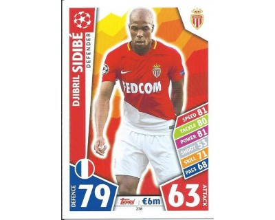 MATCH ATTAX CHAMPIONS LEAGUE 17/18 AS MONACO FC Nº 238