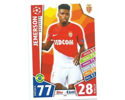 MATCH ATTAX CHAMPIONS LEAGUE 17/18 AS MONACO FC Nº 239