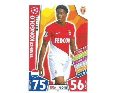 MATCH ATTAX CHAMPIONS LEAGUE 17/18 AS MONACO FC Nº 241
