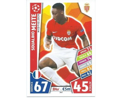 MATCH ATTAX CHAMPIONS LEAGUE 17/18 AS MONACO FC Nº 245