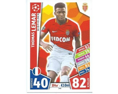 MATCH ATTAX CHAMPIONS LEAGUE 17/18 AS MONACO FC Nº 246