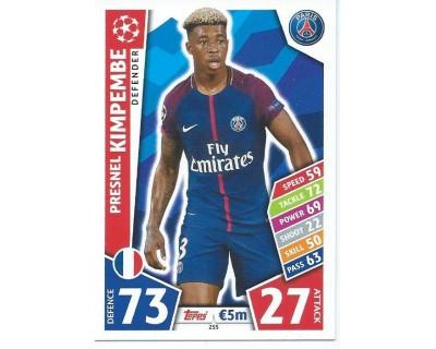 MATCH ATTAX CHAMPIONS LEAGUE 17/18 PARIS SAINT-GERMAIN Nº 255