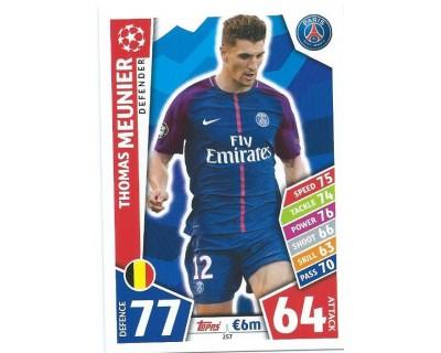 MATCH ATTAX CHAMPIONS LEAGUE 17/18 PARIS SAINT-GERMAIN Nº 257