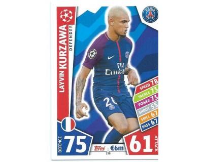 MATCH ATTAX CHAMPIONS LEAGUE 17/18 PARIS SAINT-GERMAIN Nº 258