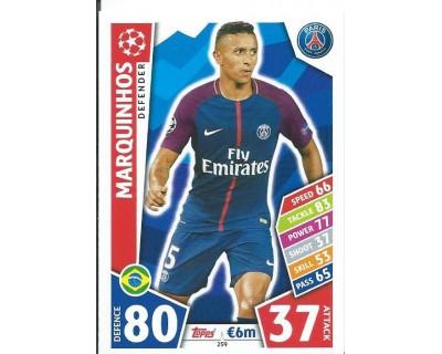 MATCH ATTAX CHAMPIONS LEAGUE 17/18 PARIS SAINT-GERMAIN Nº 259