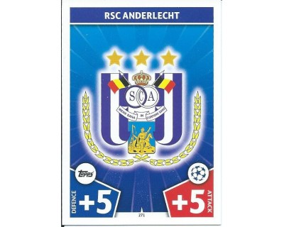 MATCH ATTAX CHAMPIONS LEAGUE 17/18 RSC ANDERLECHT Nº 271