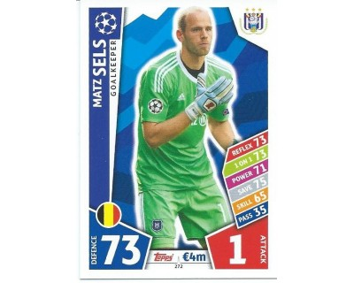 MATCH ATTAX CHAMPIONS LEAGUE 17/18 RSC ANDERLECHT Nº 272