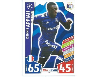 MATCH ATTAX CHAMPIONS LEAGUE 17/18 RSC ANDERLECHT Nº 273