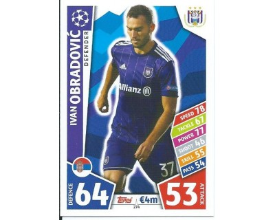 MATCH ATTAX CHAMPIONS LEAGUE 17/18 RSC ANDERLECHT Nº 274