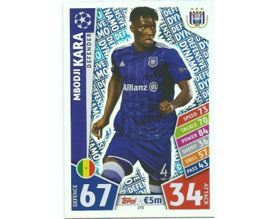 MATCH ATTAX CHAMPIONS LEAGUE 17/18 RSC ANDERLECHT Nº 275