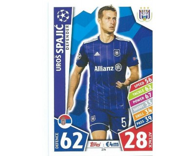 MATCH ATTAX CHAMPIONS LEAGUE 17/18 RSC ANDERLECHT Nº 276