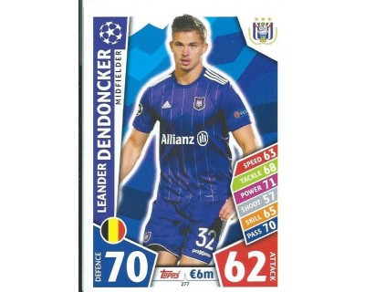 MATCH ATTAX CHAMPIONS LEAGUE 17/18 RSC ANDERLECHT Nº 277