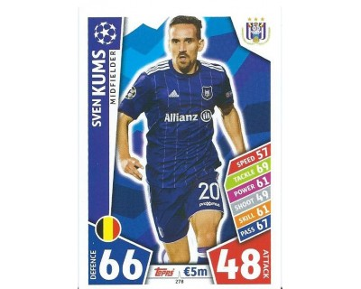 MATCH ATTAX CHAMPIONS LEAGUE 17/18 RSC ANDERLECHT Nº 278