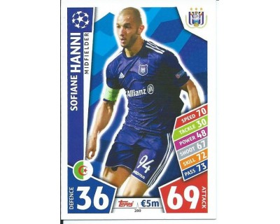 MATCH ATTAX CHAMPIONS LEAGUE 17/18 RSC ANDERLECHT Nº 280