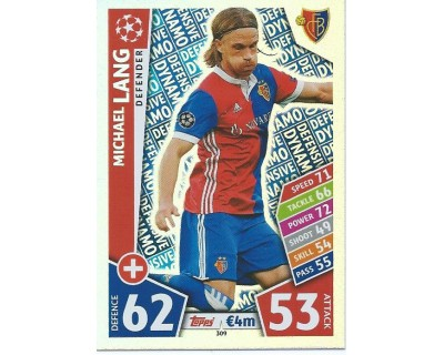 MATCH ATTAX CHAMPIONS LEAGUE 17/18 FC BASEL 1893 Nº 309