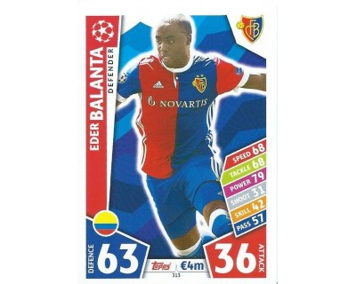 MATCH ATTAX CHAMPIONS LEAGUE 17/18 FC BASEL 1893 Nº 313