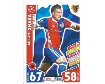 MATCH ATTAX CHAMPIONS LEAGUE 17/18 FC BASEL 1893 Nº 314