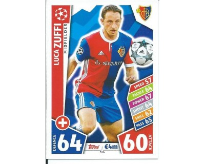 MATCH ATTAX CHAMPIONS LEAGUE 17/18 FC BASEL 1893 Nº 316